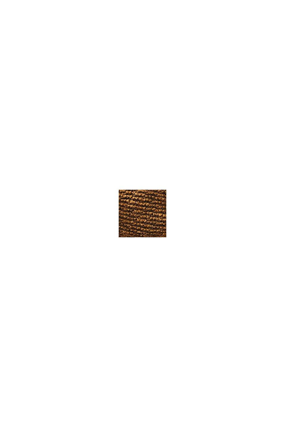 Recycelt: großer Karo-Webschal, CARAMEL, swatch