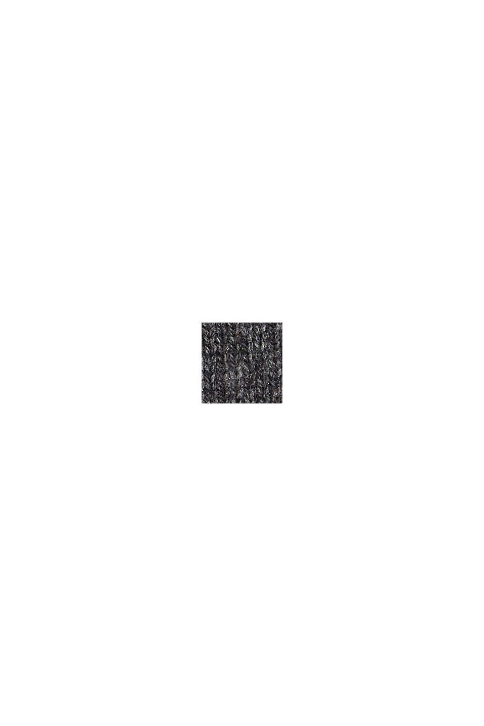 In materiale riciclato: guanti a maglia in misto lana, DARK GREY, swatch