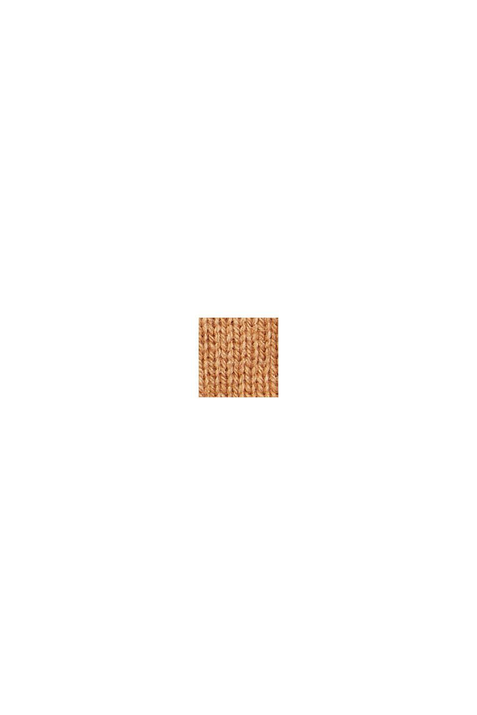 In materiale riciclato: guanti a maglia in misto lana, CARAMEL, swatch