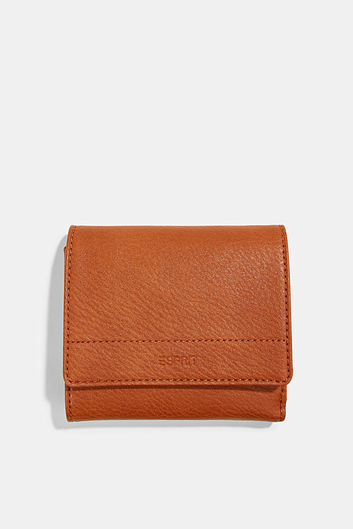 Small faux leather wallet, RUST BROWN, detail image number 0