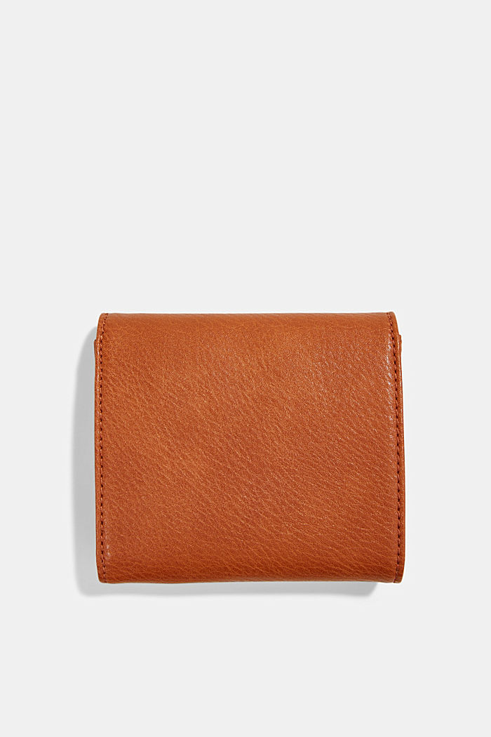 Small faux leather wallet, RUST BROWN, detail image number 1