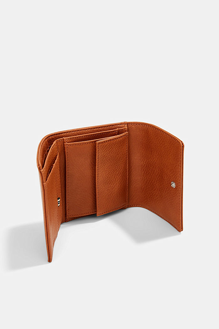 Small faux leather wallet, RUST BROWN, detail image number 2