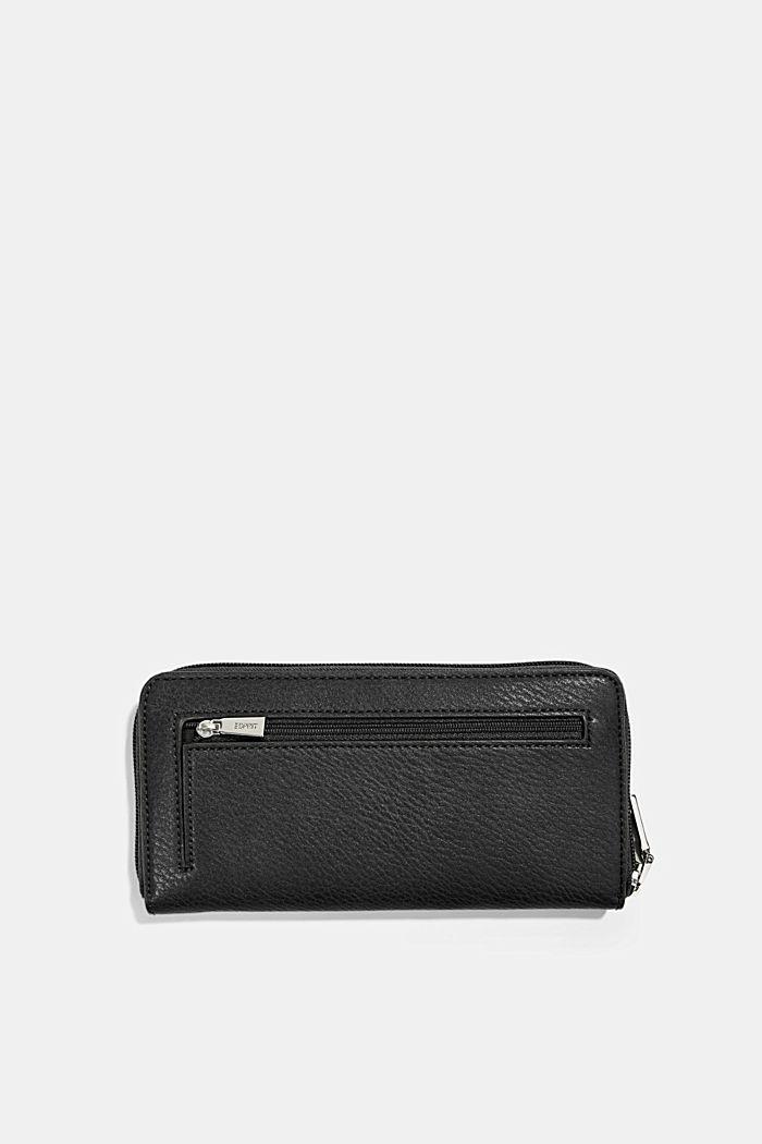 Faux leather purse, BLACK, detail image number 2