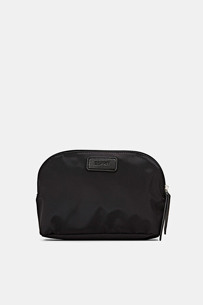 Recycled: nylon cosmetic bag, BLACK, detail image number 0