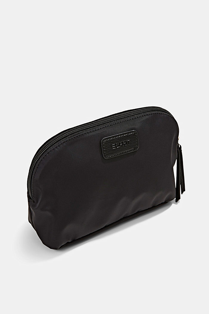 Recycled: nylon cosmetic bag, BLACK, detail image number 2