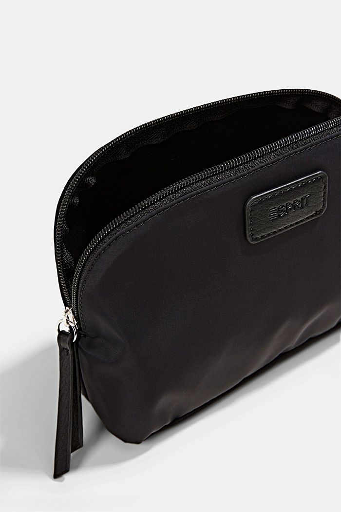 Recycled: nylon cosmetic bag, BLACK, detail image number 1