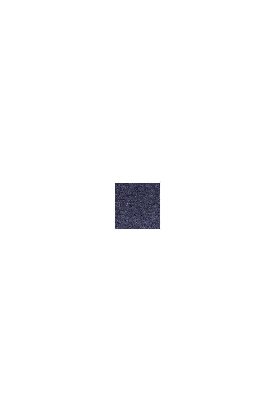 Recycelt: Schal mit Webmuster, NAVY, swatch