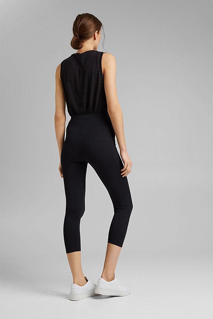 7/8-length leggings made organic cotton, BLACK, detail image number 3