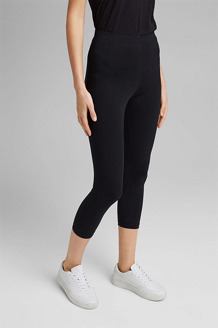7/8-length leggings made organic cotton, BLACK, detail image number 5