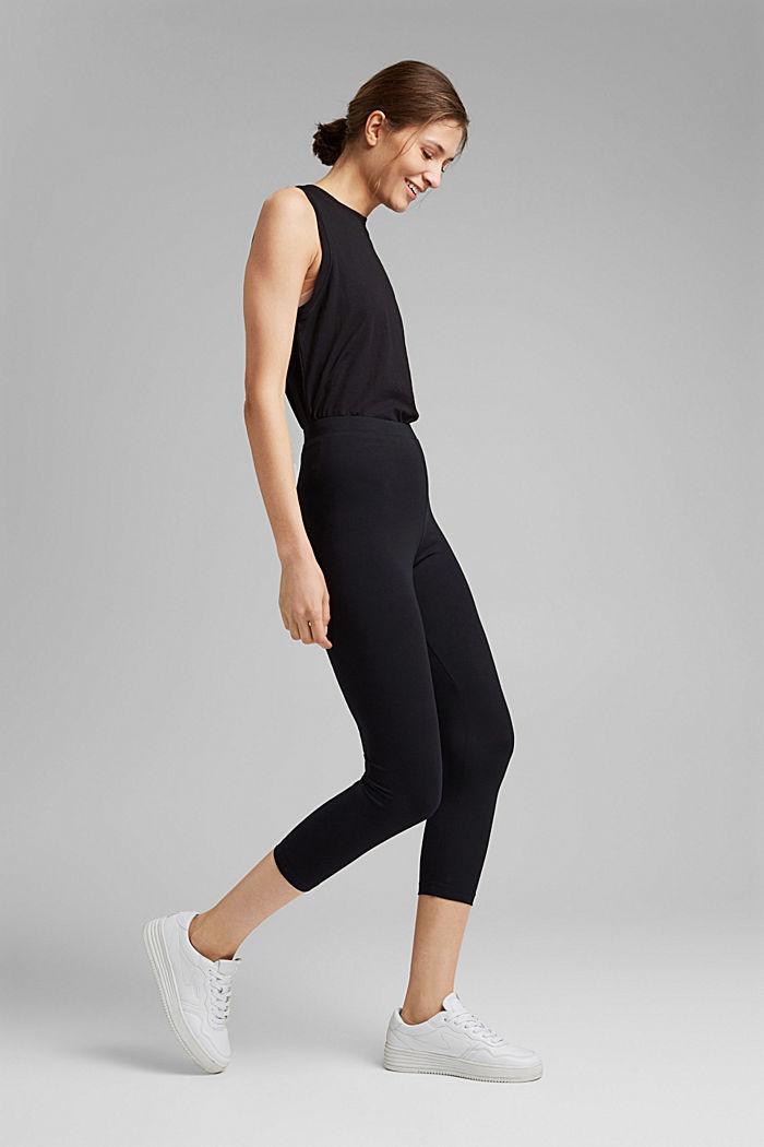 7/8-length leggings made organic cotton, BLACK, detail image number 1