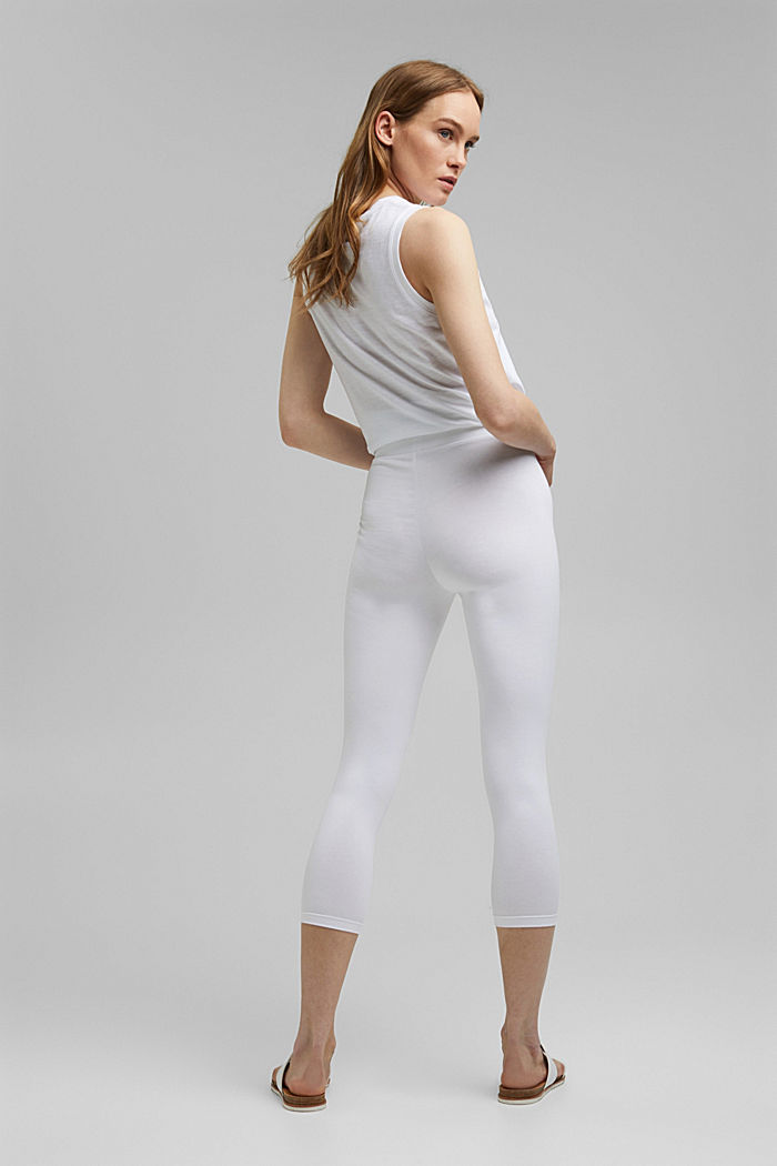 7/8-Leggings aus Bio-Baumwolle, WHITE, detail image number 3