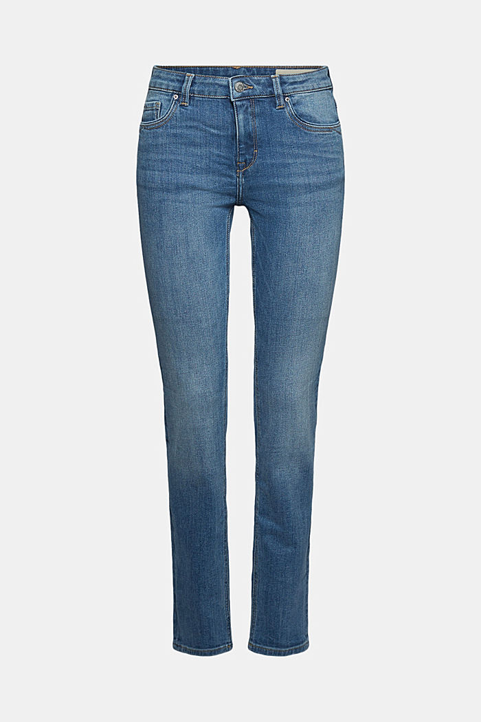 Stretch-Jeans mit Organic Cotton, BLUE MEDIUM WASHED, detail image number 6