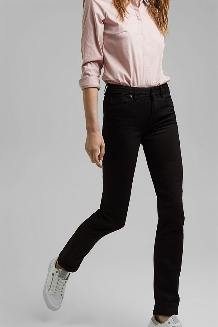 Stretch jeans with organic cotton, BLACK RINSE, detail image number 0