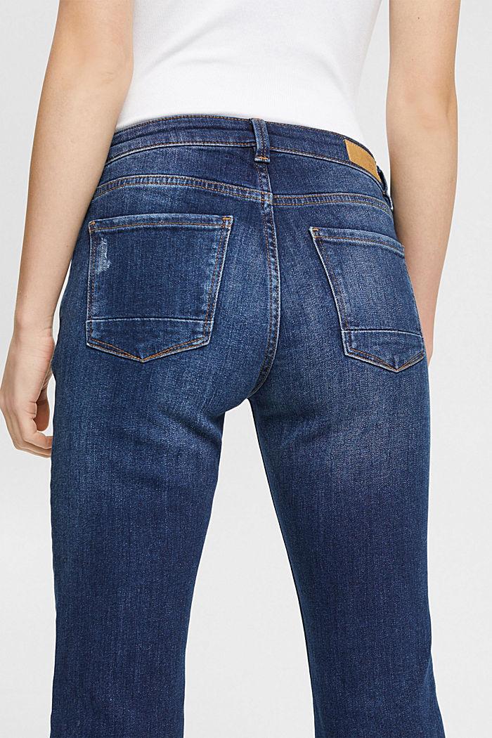 Jeans met veel stretch en biologisch katoen, BLUE DARK WASHED, detail image number 4