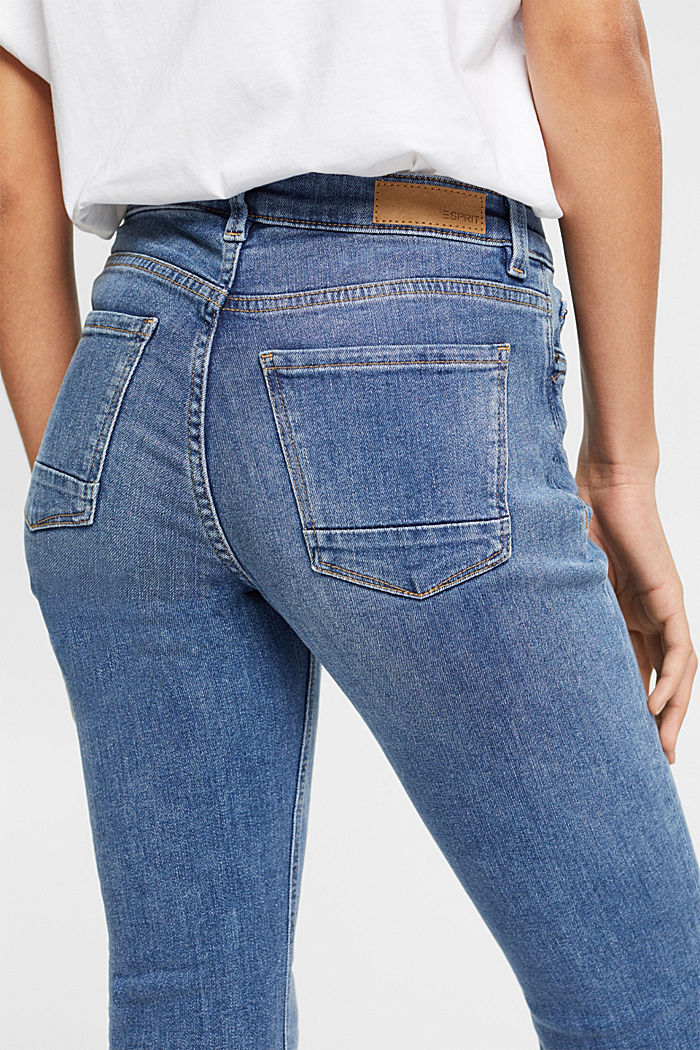 Super stretch jeans with organic cotton, BLUE MEDIUM WASHED, detail image number 2