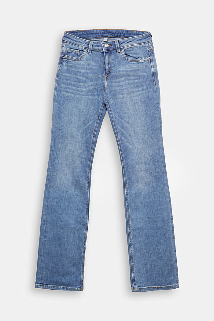 Super stretch jeans with organic cotton, BLUE MEDIUM WASHED, detail image number 6