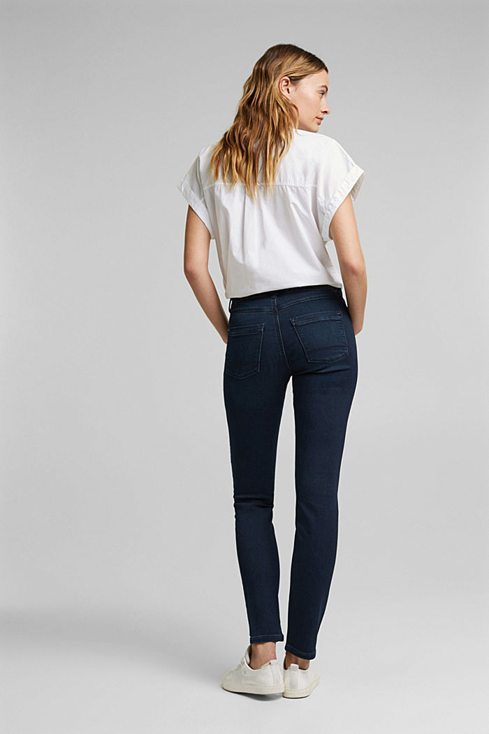 Tracksuit bottom jeans with organic cotton, BLUE RINSE, detail image number 3