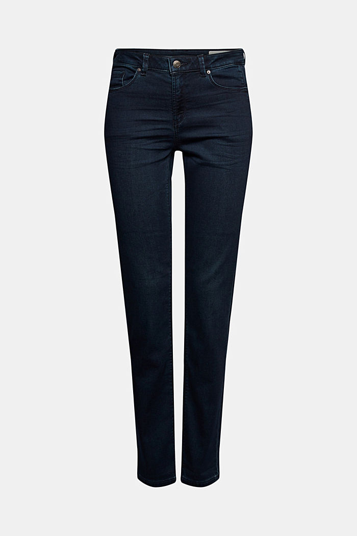 Tracksuit bottom jeans with organic cotton, BLUE RINSE, detail image number 5