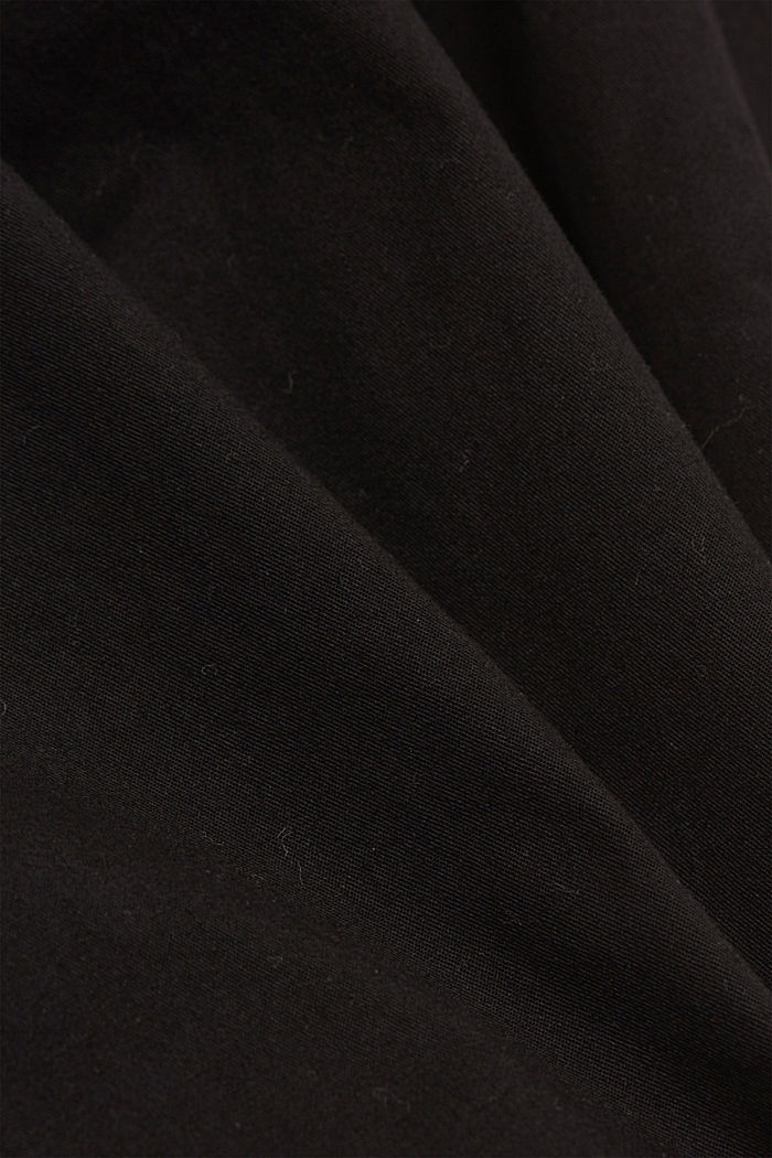 Chinos with innovative stretch fibres, BLACK, detail image number 4