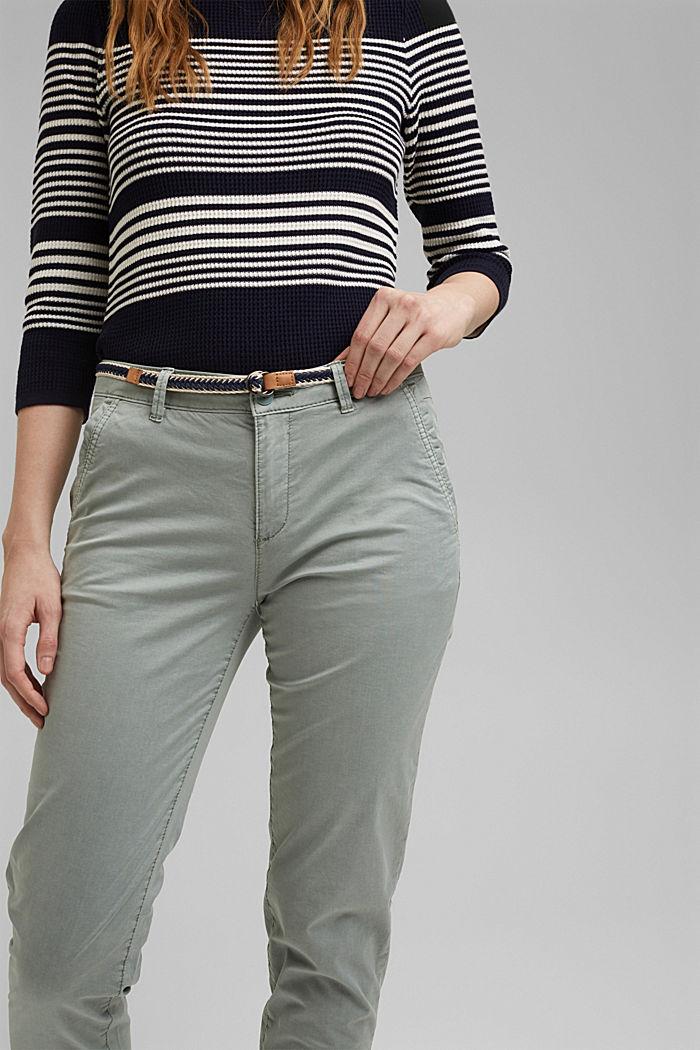 Pantalón chino con fibra elástica novedosa, LIGHT KHAKI, detail image number 2