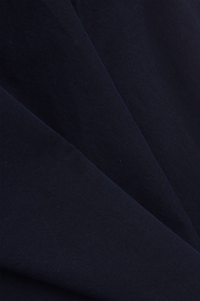 Chinos with innovative stretch fibres, NAVY, detail image number 3