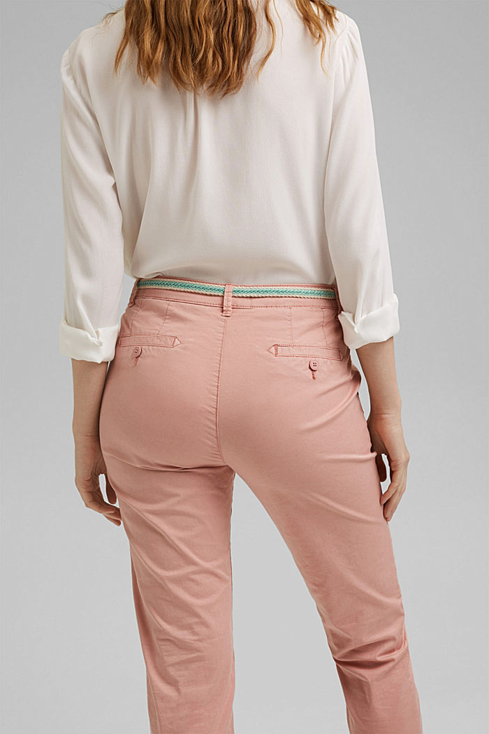 Chinos with innovative stretch fibres, NUDE, detail image number 5