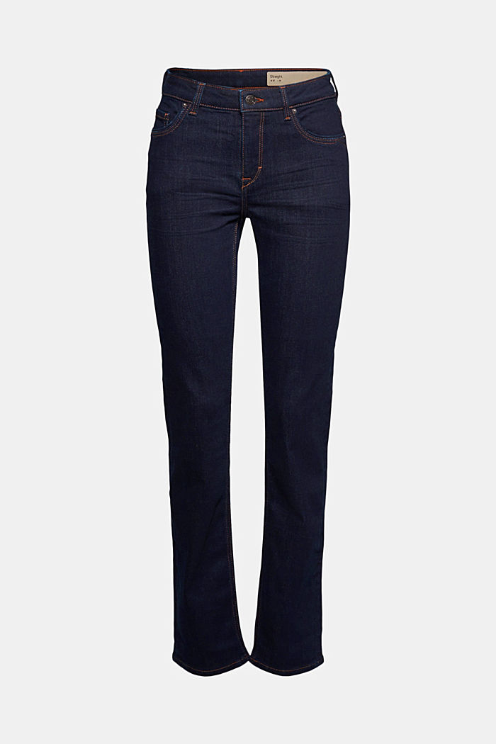 Super stretch jeans with organic cotton, BLUE RINSE, detail image number 5