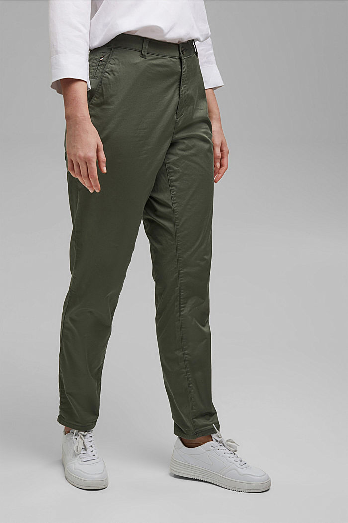 Pants woven, KHAKI GREEN, detail image number 0