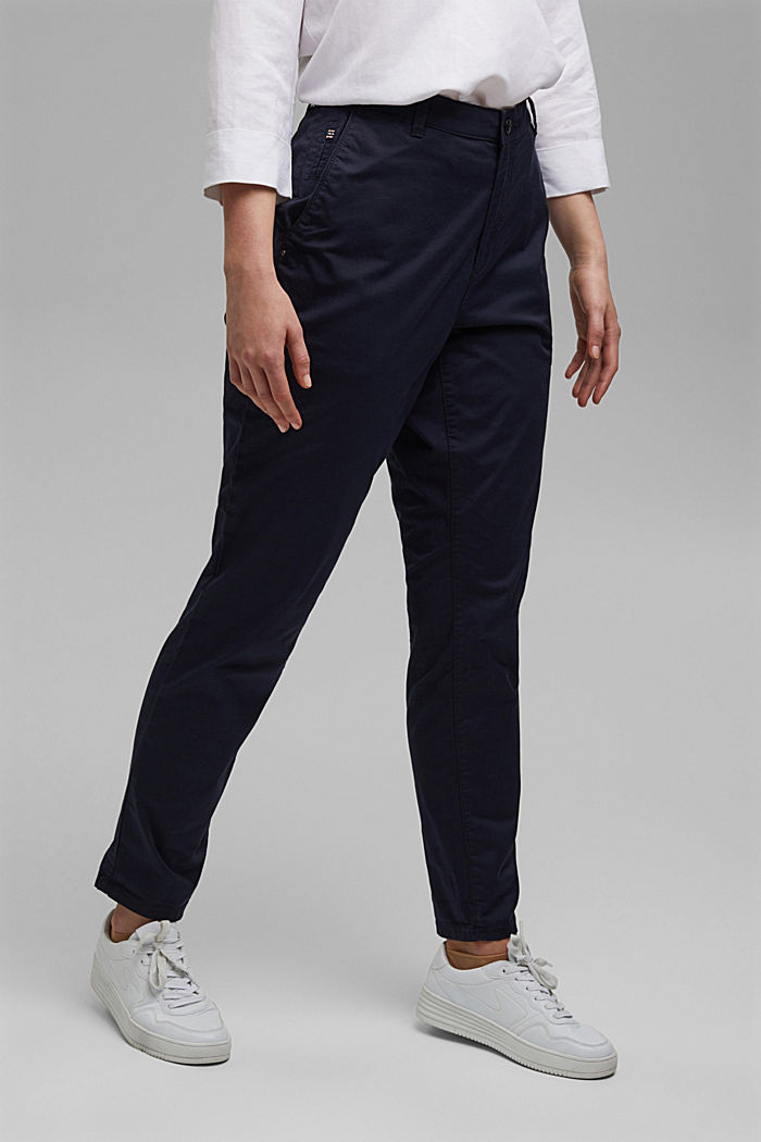 CURVY stretch chinos with Lycra xtra life™, NAVY, detail image number 0