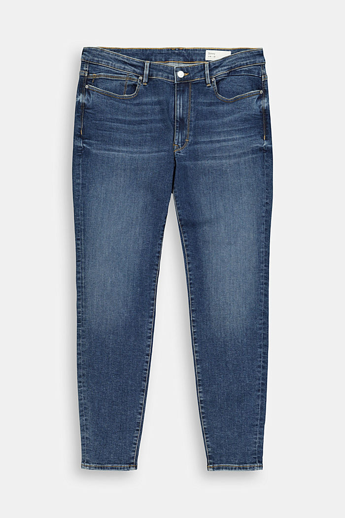 CURVY stretch jeans containing organic cotton