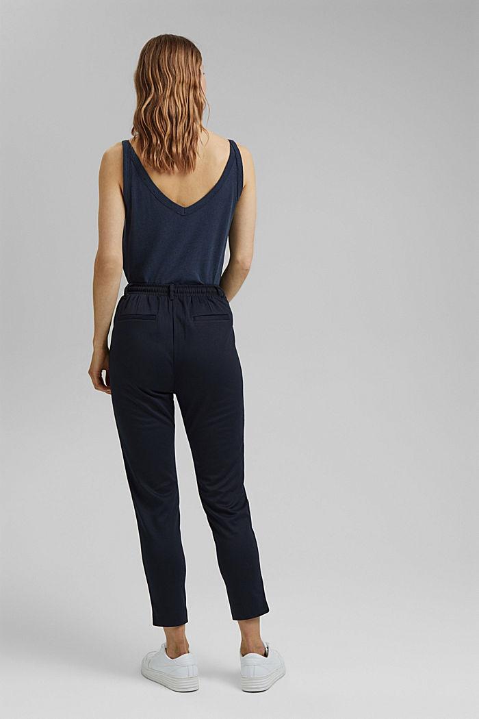 Pantalon stretch muni d´une taille élastique, DARK BLUE, detail image number 3