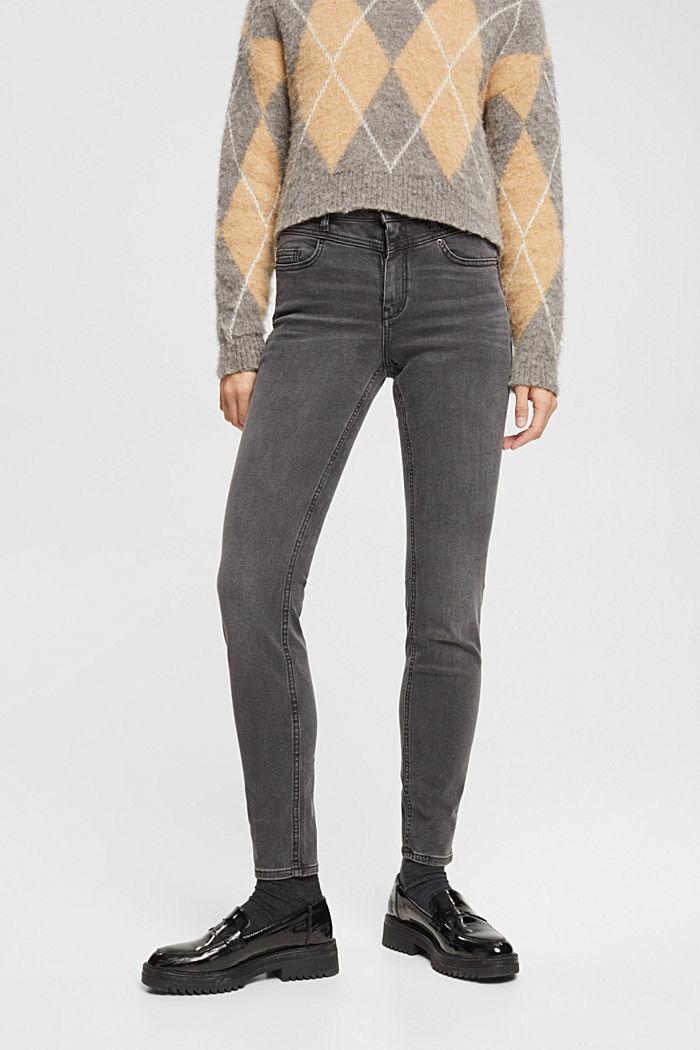 Jeans modellanti a vita alta, GREY DARK WASHED, detail image number 0