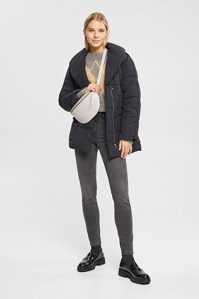 Jeans modellanti a vita alta, GREY DARK WASHED, detail image number 1