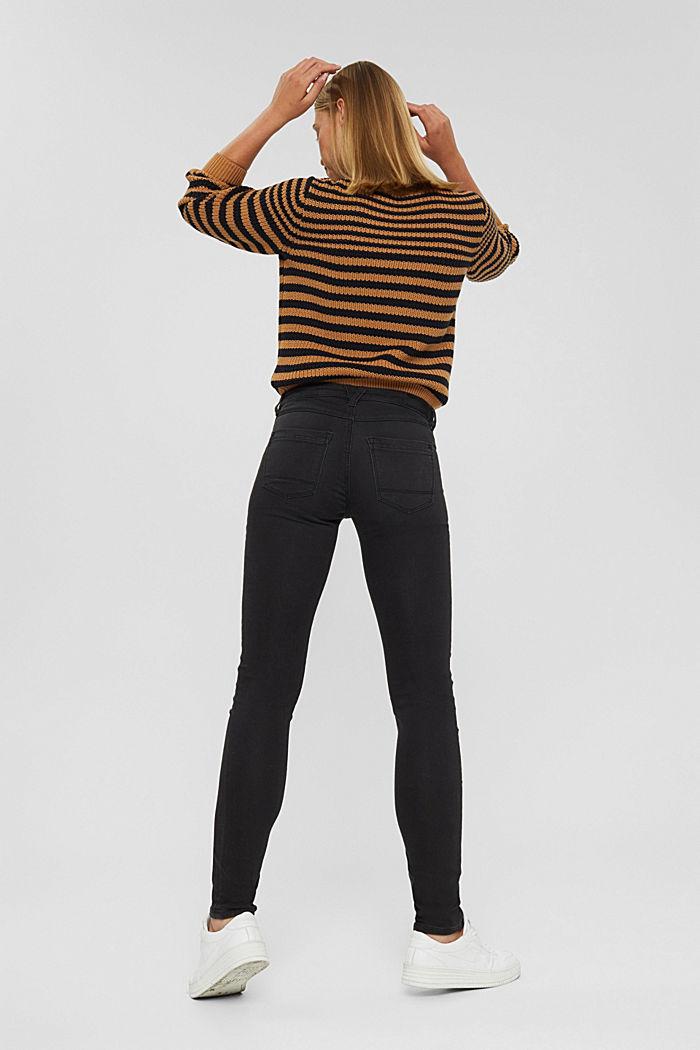 Jean noir en matière jogging confortable, BLACK DARK WASHED, detail image number 3