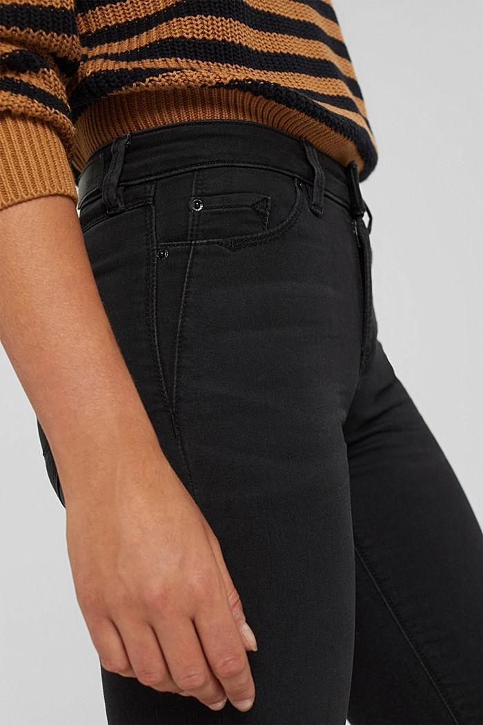 Jean noir en matière jogging confortable, BLACK DARK WASHED, detail image number 2