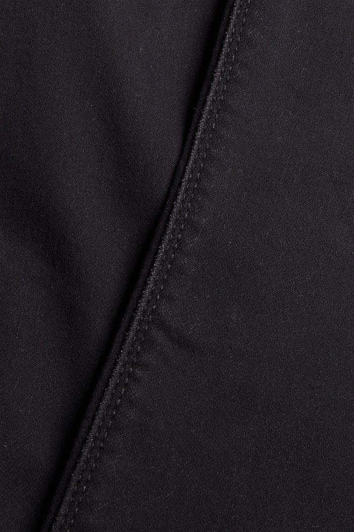 Jean noir en matière jogging confortable, BLACK DARK WASHED, detail image number 4