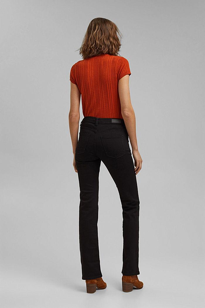 Bootcut jeans van een mix met biologisch katoen, BLACK RINSE, detail image number 3