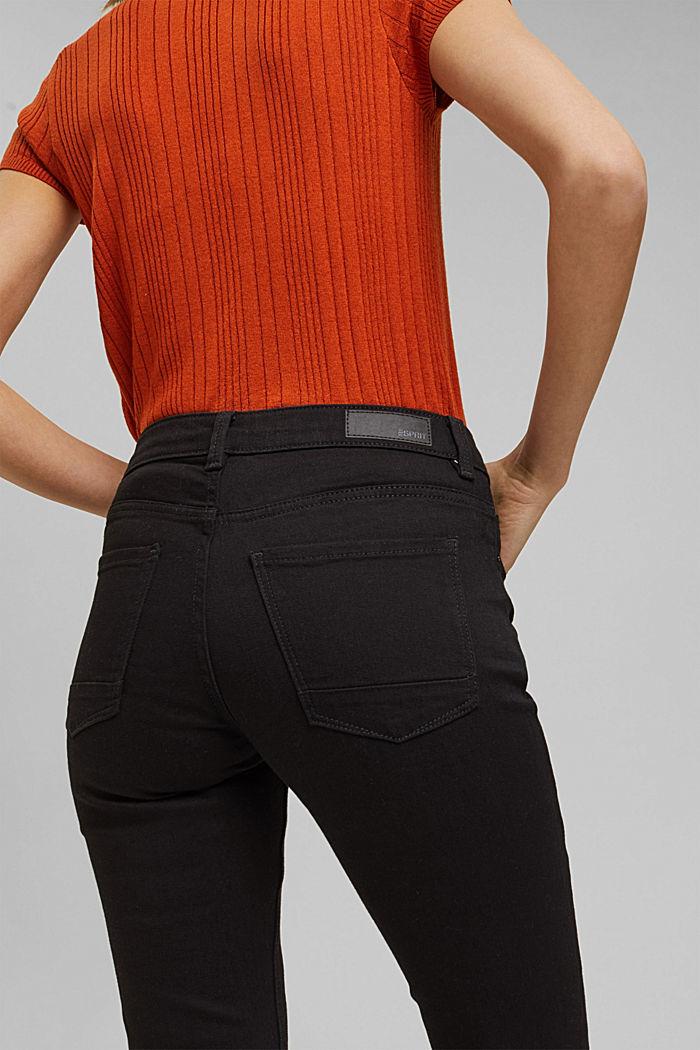Bootcut jeans van een mix met biologisch katoen, BLACK RINSE, detail image number 5