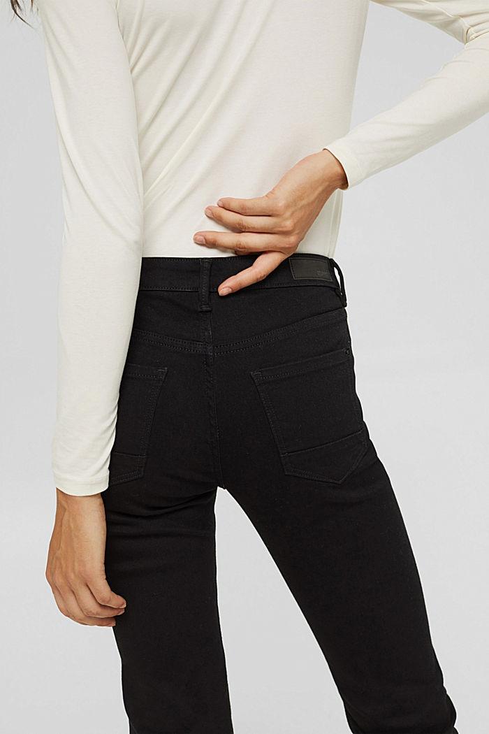 Jean stretch en coton biologique mélangé, BLACK RINSE, detail image number 6