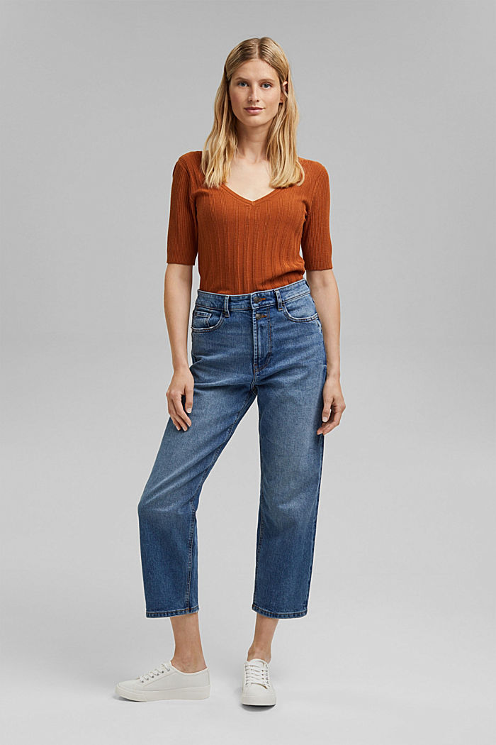 Fashion Fit ankle-length jeans, BLUE MEDIUM WASHED, detail image number 1