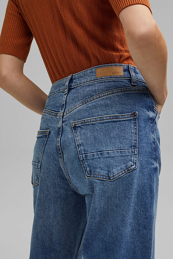 Fashion Fit ankle-length jeans, BLUE MEDIUM WASHED, detail image number 5