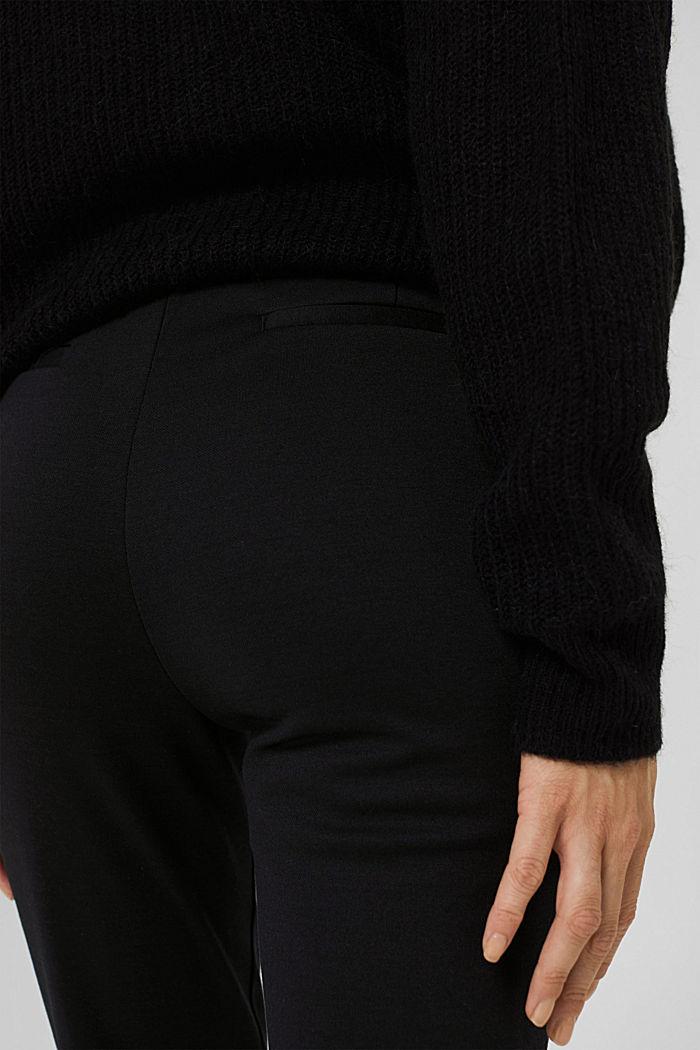Pantalon de jogging en maille piquée à taille élastique, BLACK, detail image number 5
