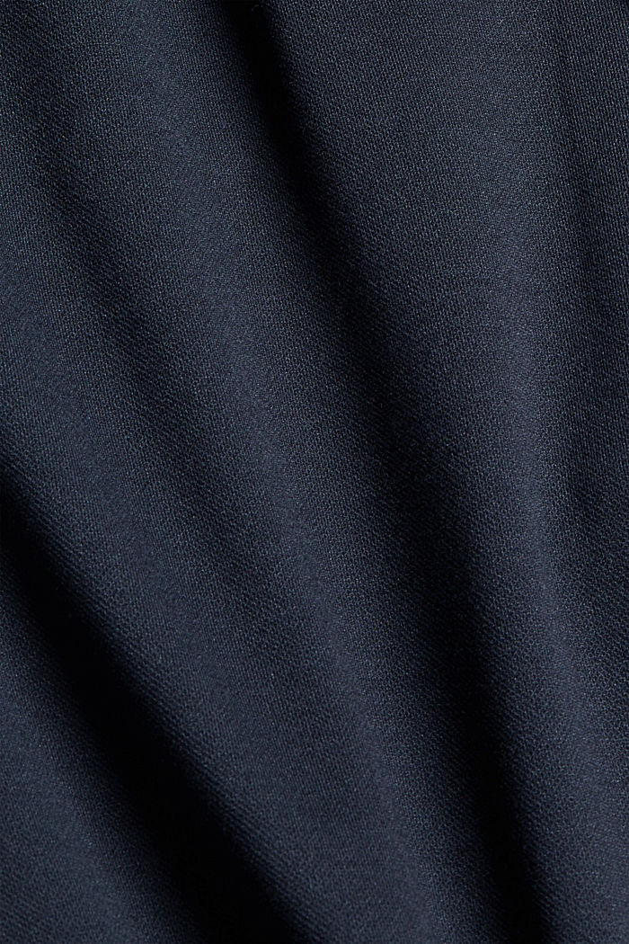 Piqué tracksuit bottoms with an elasticated waistband, NAVY, detail image number 4