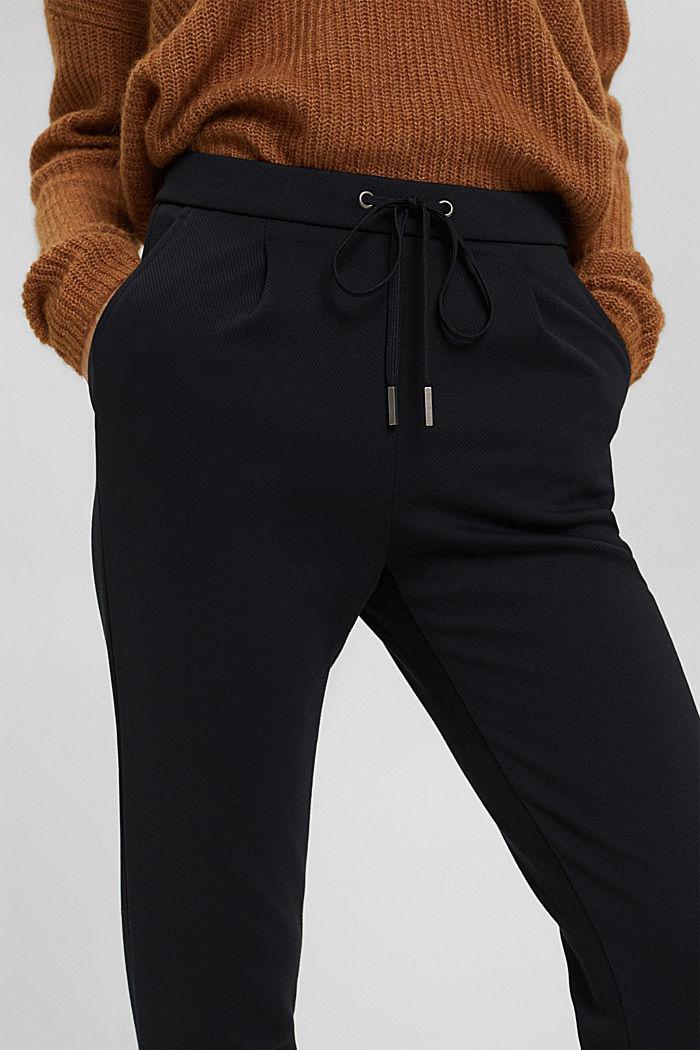 Recycelt: Stretch-Hose mit Gummizugbund, BLACK, detail image number 2