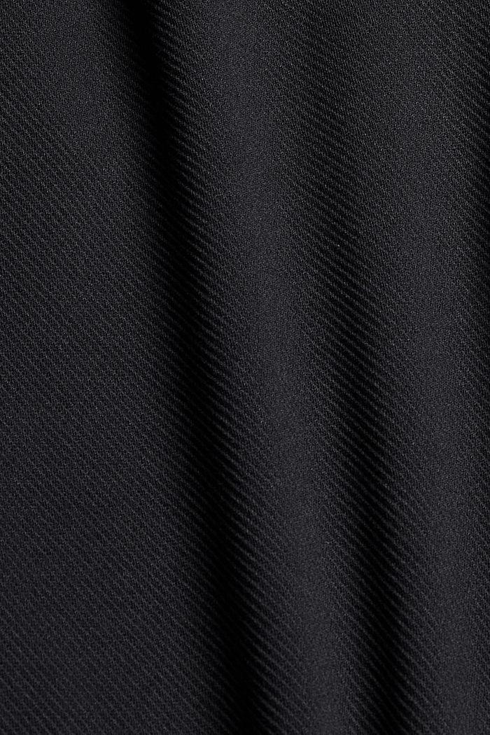 Recycelt: Stretch-Hose mit Gummizugbund, BLACK, detail image number 4