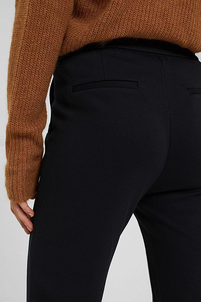 Recycelt: Stretch-Hose mit Gummizugbund, BLACK, detail image number 5