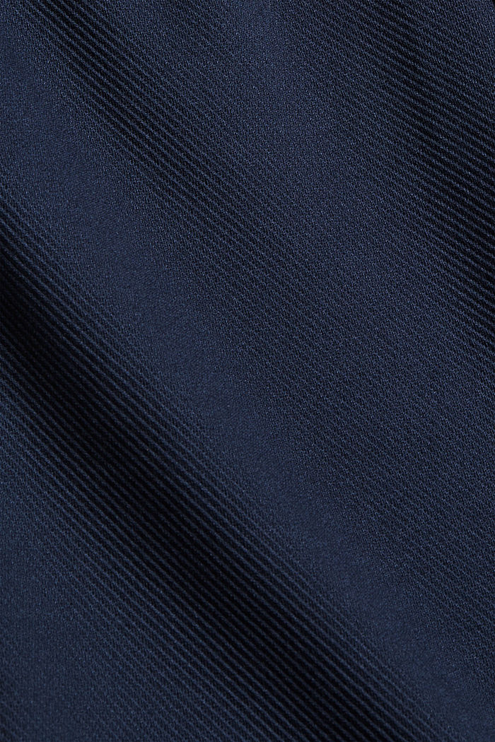 Recycled: Stretch trousers with an elasticated waistband, NAVY, detail image number 4
