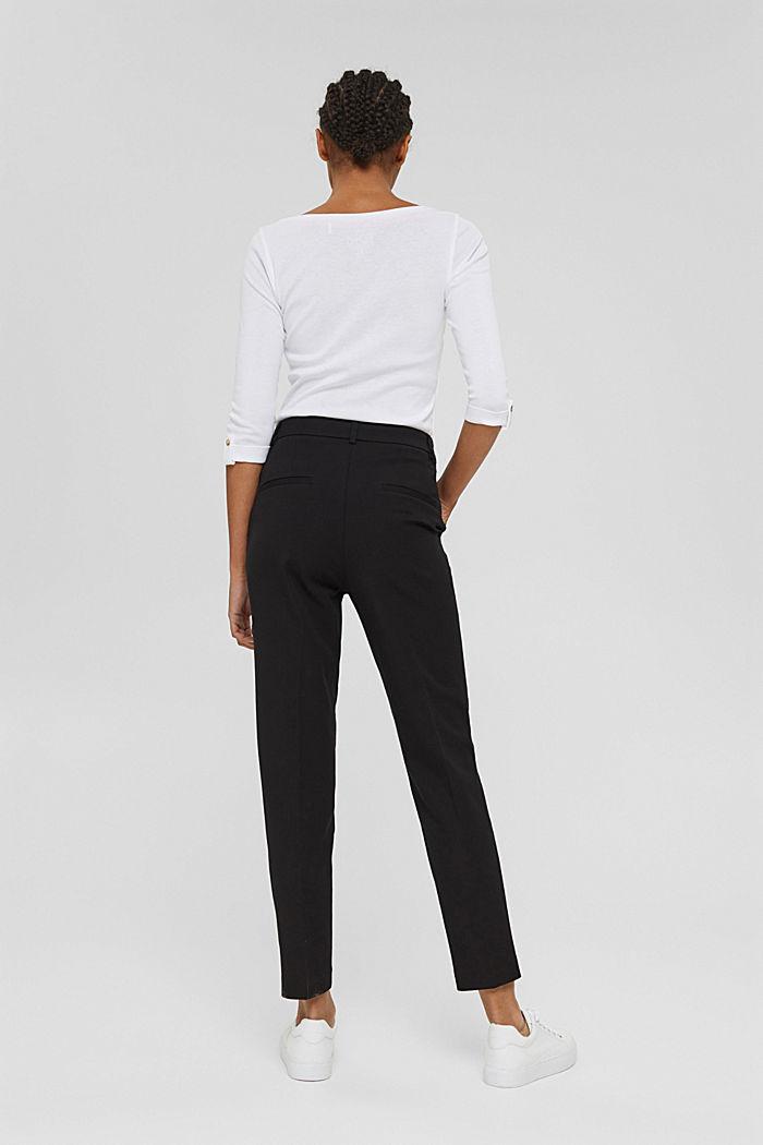 Pantaloni stretch in misto cotone, BLACK, detail image number 3