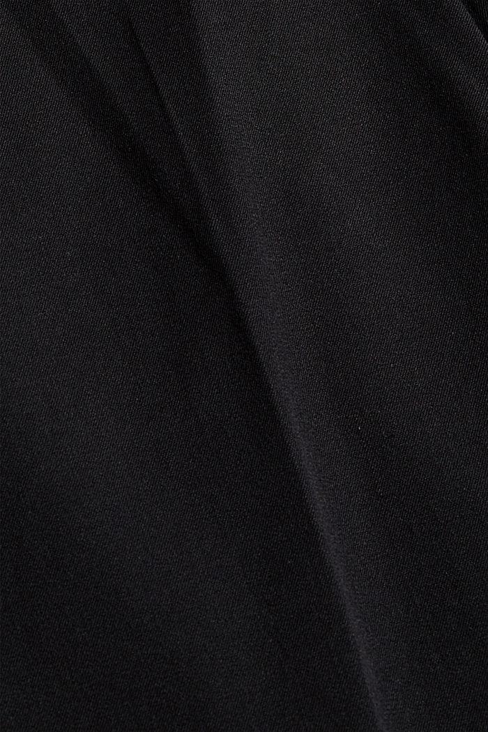 Pantaloni stretch in misto cotone, BLACK, detail image number 4