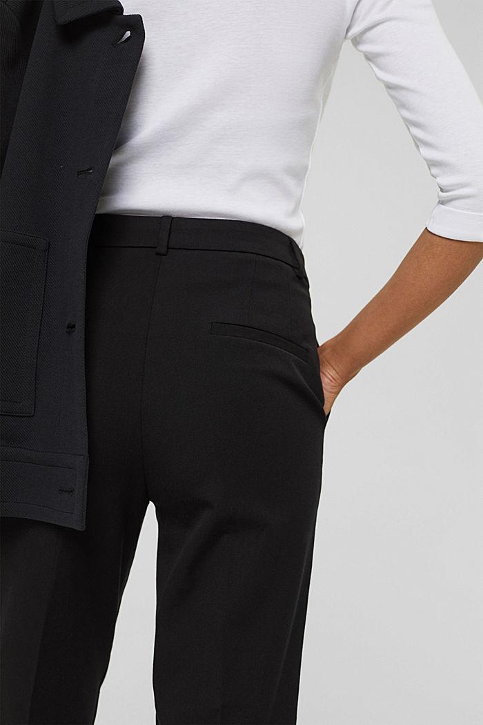 Pantaloni stretch in misto cotone, BLACK, detail image number 5